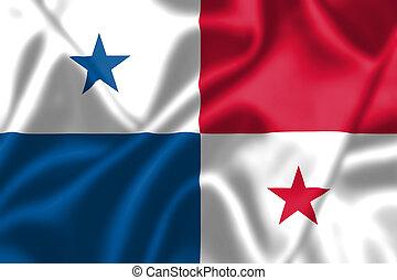 Panamá, bandera, Soplar, viento