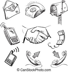 Communication icons collection - Business, communication...