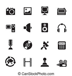 Media and household icons