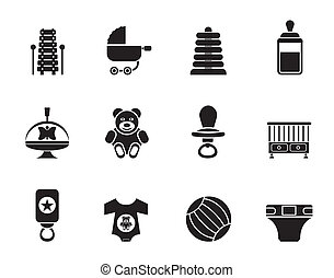 Child, Baby and Baby Shop Icons