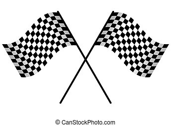 Racing flag isolated - Two Racing flags isolated on white...