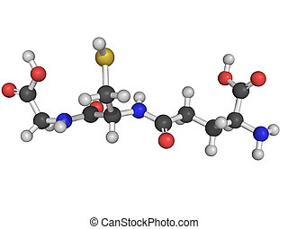 Chemical structure of glutathione, an antioxidant,...