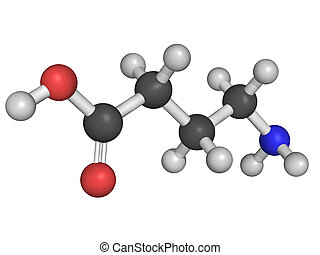 Chemical structure of gamma-aminobutyric acid GABA -...