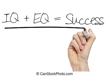 formula for success iq eq success concept