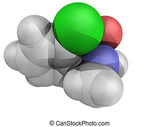 chimique, structure, ketamine