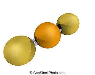 químico, estructura, selenio, disulfide