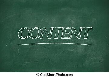 Content written on blackboard