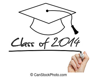 Conceptual Class of 2014 statement written on black...