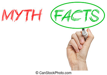 Myth and facts - Myths and Facts opposition written on...