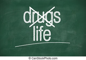 escolher, vida, drogas, dizer, não