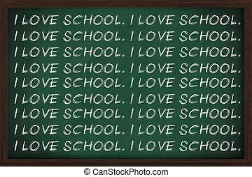 i, Amor, escola