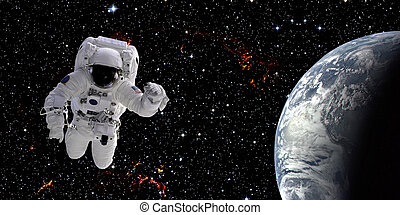 Astronaut in space - High quality isolated composite...