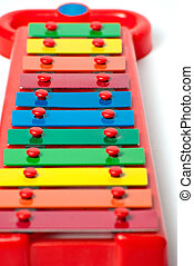 Xylophone metallophone for kids selective focus