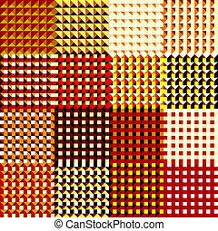 grunge red rags pattern