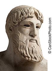 Portrait of a greek god