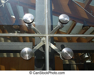 Glass facade - Detail of a modern structural glass facade