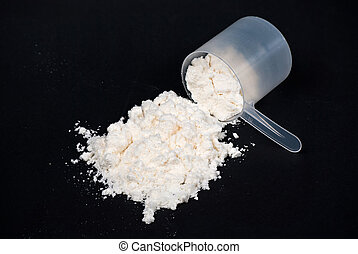 Protein powder scoop - A scoop of protein powder drink...