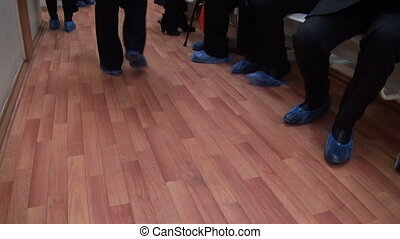 Feet in the Shoe covers Patients on admission to the clinic...