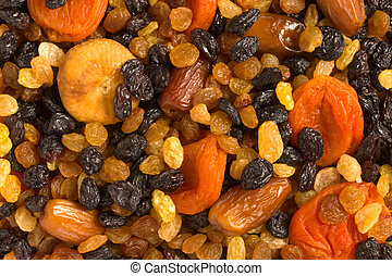 Various dried fruits close-up - Various dried fruits...