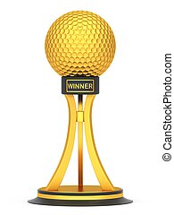 Award golf ball sport isolated on a white background