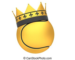 Tennis ball with crown