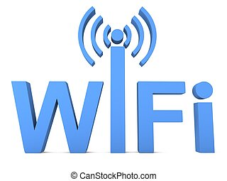 Wi-fi sign concept