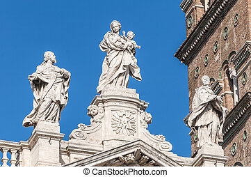 The Papal Basilica of Saint Mary Major in Rome, Italy. - The...