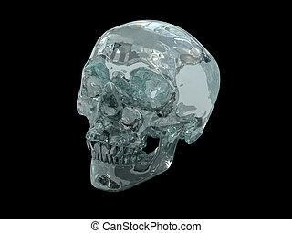 3D Crystal Skull - 3D model of a human Crystal Skull,...