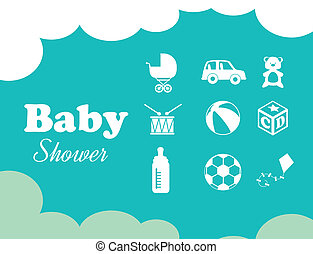 baby design - baby design over blue background vector...
