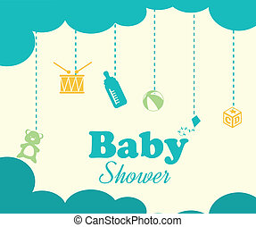 baby design - baby design over white background vector...