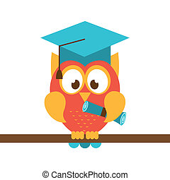owl design - owl design over white background vector...