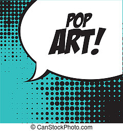 pop art   over   blue background vector illustration