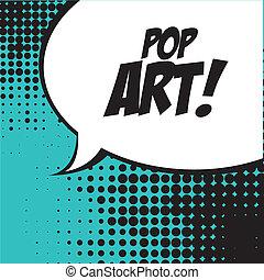 pop art   over   blue background vector illustration