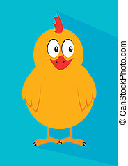chicken design over blue background, vector illustration