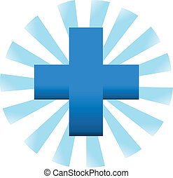 Cross symbol - Medical symbol icon vector