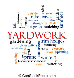Yardwork Word Cloud Concept with great terms such as cut...