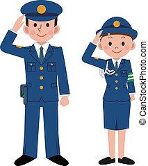 policía, oficiales