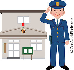 Police officers and police station
