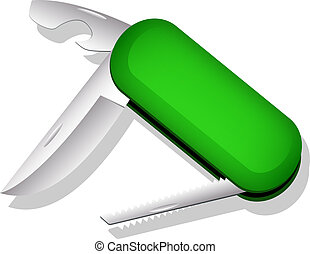 Multipurpose knife. Vector illustration