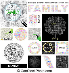 Family. Concept illustration. - Family. Word cloud...