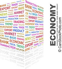 ECONOMY Concept illustration Graphic tag collection...