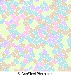 Abstract colorful Retro geometric hexagon pattern background