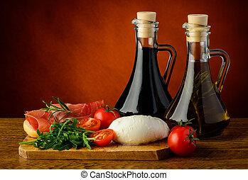 Mediterranean food - mediterranean food with mozarella...