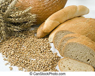 Isolated bakery - Cereal and bakery products isolated on a...