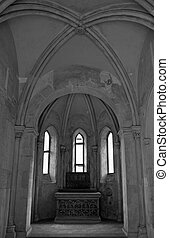 Romanesque chapel - Ancient romanesque chapel in Plasy...