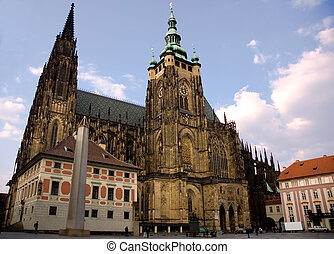 Cathedral of saint Vitus in Prague - Famous Czech Gothic...