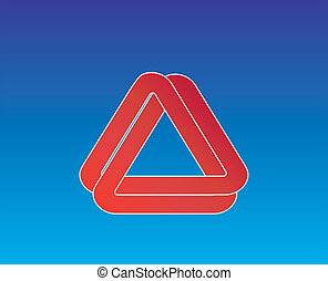 Infinite triangle - 2 infinite triangle intertwined without...