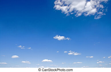 Blue sky with small clouds - Sky full of small clouds -...