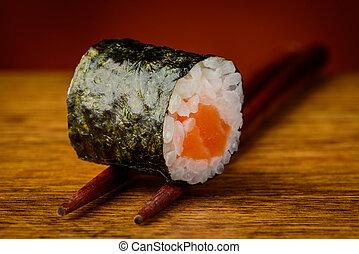 maki, Sushi, rollo, palillos