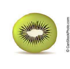 Organic kiwi isolated on white